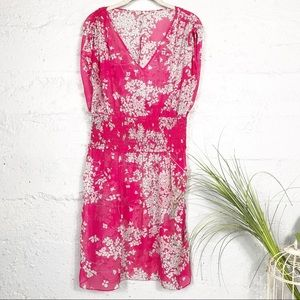 Aritzia Silk Floral Dress